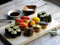 vegetable-sushi-platter